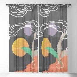 leave Sheer Curtain