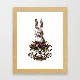 Rabbit in a Teacup Framed Art Print