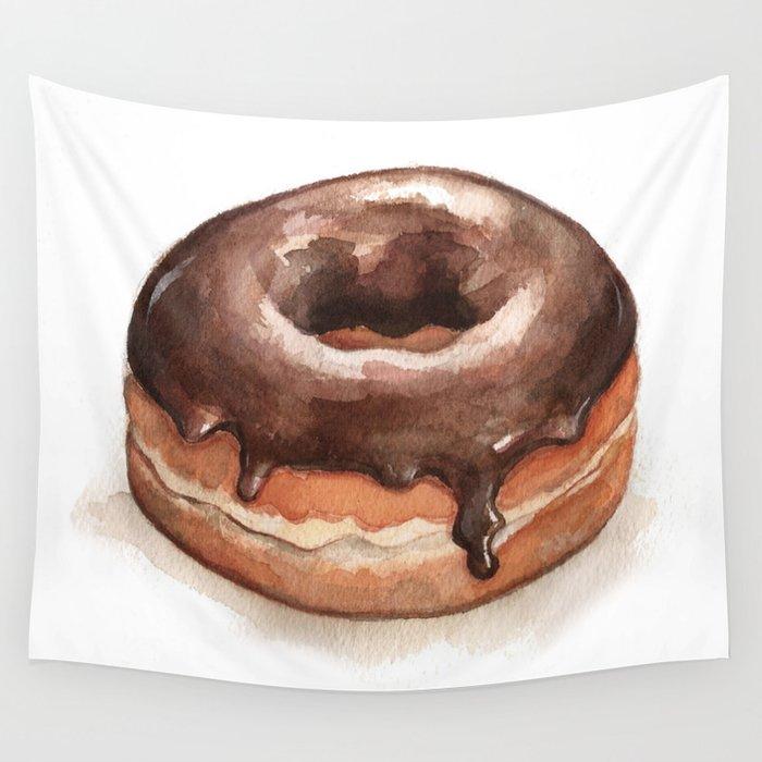 Chocolate Glazed Donut Wall Tapestry