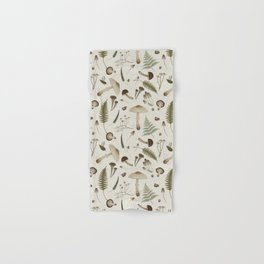 Mushroom pattern 1 white Hand & Bath Towel