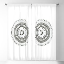 Graphic circle Blackout Curtain