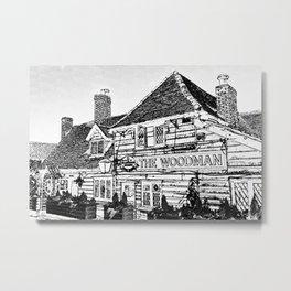 The Woodman Pub Art Metal Print