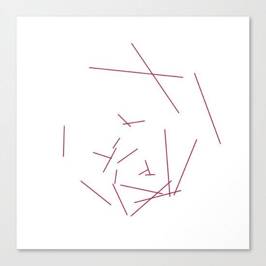 #328 Hexaboom – Geometry Daily Canvas Print