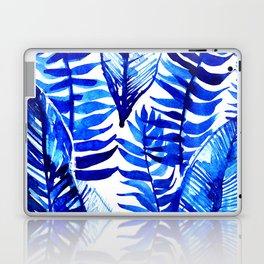Jungle Leaves & Ferns in Blue Laptop & iPad Skin