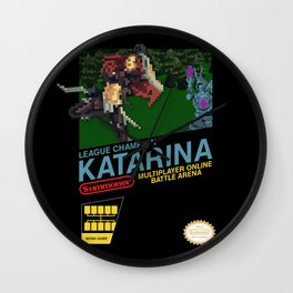 8-bit Champion: Katarina Wall Clock