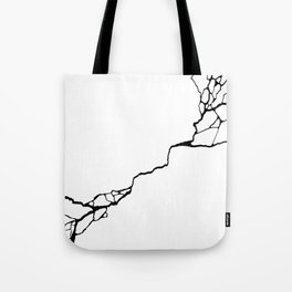 Diagonal Destroyed Light Tote Bag