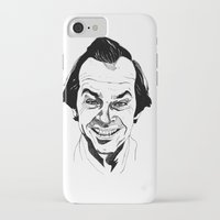 jack nicholson iPhone & iPod Cases featuring Jack Nicholson by Giorgia Ruggeri
