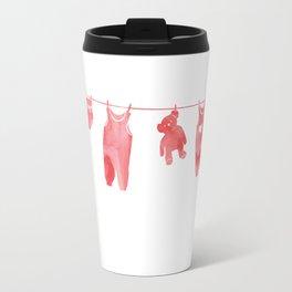 Baby Clothesline Pink Travel Mug