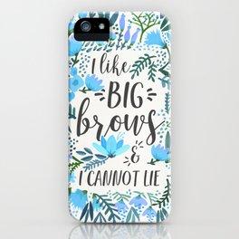Big Brows – Blue Palette iPhone Case