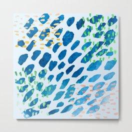 Dancing Fish Watercolor Abstract Metal Print