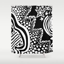 Soul Of The Dream Desert - Star Gazer (Black and White Edition) Shower Curtain