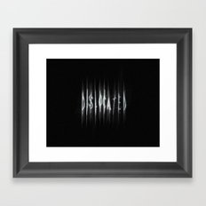 Dislocated Framed Art Print
