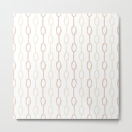 Girly Dot Stripe 2 Metal Print