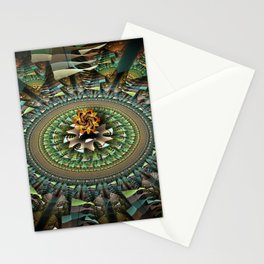 Magic movement of patterns Stationery Cards