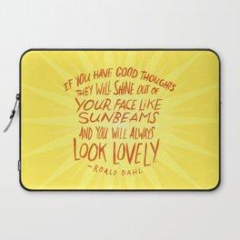 Roald Dahl on Positive Thinking Laptop Sleeve