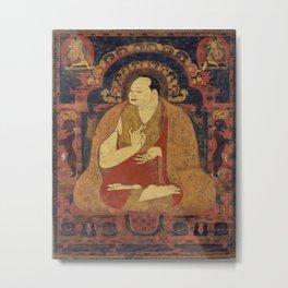 Zen Buddha Garden Metal Print