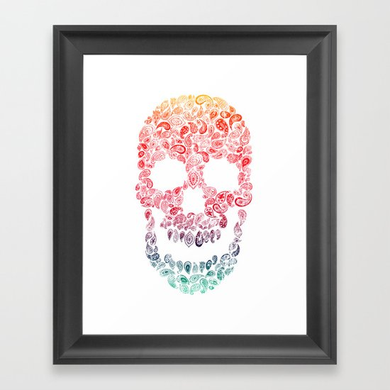 Death By Paisley Framed Art Print