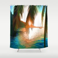 paradise Shower Curtains featuring Paradise by Robin Curtiss