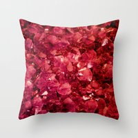 ruby Throw Pillows featuring Ruby by Lotus Effects