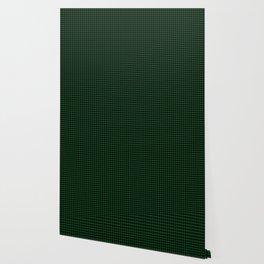 Mini Forest Green and Black Rustic Cowboy Cabin Buffalo Check Wallpaper