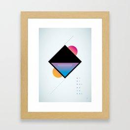 minimal natural Framed Art Print