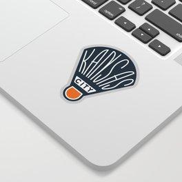 Kansas City Shuttlecock Type - White Sticker