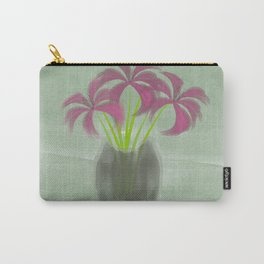 Pink Lilies in Vase Carry-All Pouch