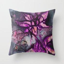 Graffiti Floral Lotus (by912-StreetDreams) Throw Pillow