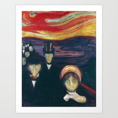 Anxiety by Edvard Munch Art Print