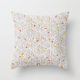 Little Triangles Pattern Throw Pillow