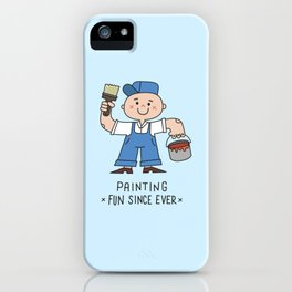 Painting is fun iPhone Case