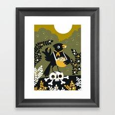 Berry Picker Framed Art Print