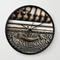 the national Wall Clocks featuring National Cash by Caitlyn Grasso