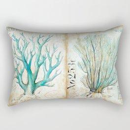 Blue Coral No. 2 Rectangular Pillow