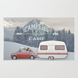 NEVER STOP EXPLORING - CAMPERS GONNA CAMP Rug