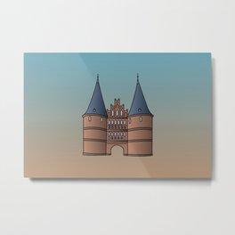 Holstentor Lübeck (FRG) Metal Print