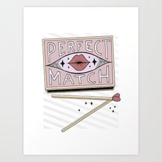 Perfect Match Art Print