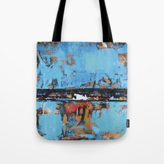 Stallion Blue Modern Painting Abstract Art Landscape Tote Bag