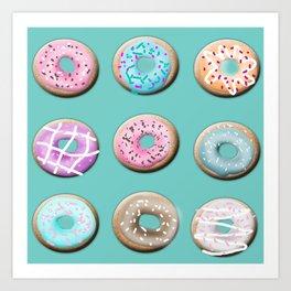 Donuts for tea Art Print