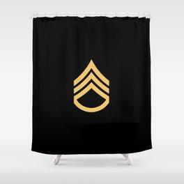 Staff Sergeant (Black & Gold) Shower Curtain