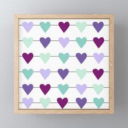Fresh Horizontal Heart Strings Framed Mini Art Print
