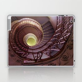 Spiral staircase in red and golden tones Laptop & iPad Skin