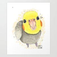 Cockatiel Cutie Art Print