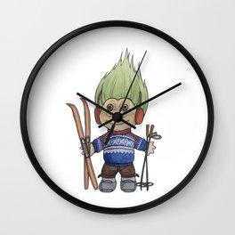 Langrennstroll Wall Clock