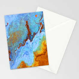 Sky Marble Stationery Cards