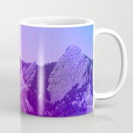 Boulder Colorado Flatirons Decor \\ Chautauqua Park Purple Pink Blue Green Nature Bohemian Style Art Coffee Mug