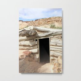 Cabin in the Desert Metal Print