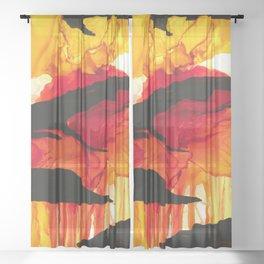 Inferno Sheer Curtain