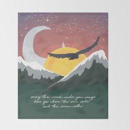 Where the Sun Sails and the Moon Walks Throw Blanket