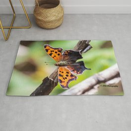 Eastern Comma Butterfly Landscape with Art Filter Rug